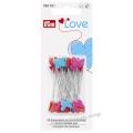 028521 Prym Love Булавки с пластиковыми головками в виде сердечек и бабочек 50 шт.
