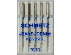 130/705H Иглы Schmetz джинс №70 по 5шт(VBS)